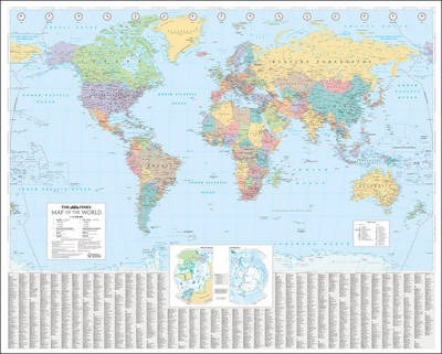 The times world wall laminated map 9780007493128 the times world wall laminated map gumiabroncs Choice Image