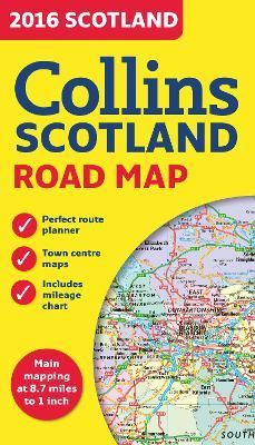 2016 Collins Map Of Scotland [New Edition] Cover Image