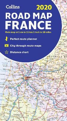 Road Map Of France.2020 Collins Map Of France Collins Maps 9780008319779