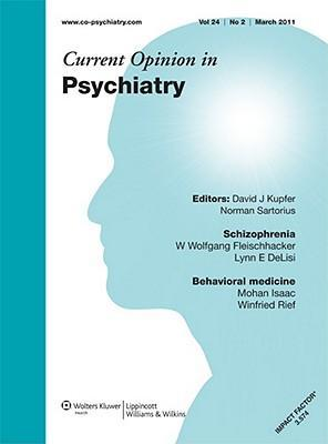 Sj Current Opinion Psychiatry