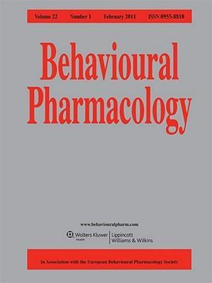 Sj Behavioural Pharmacology
