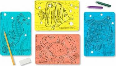 Sea Creatures Textured Stencils