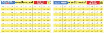 Learning Mats: Division Problems
