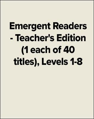 Emergent Readers - Levels 1-8