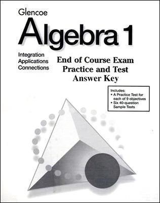 Algebra 1 End-of-Course Exam Practice Answer Key