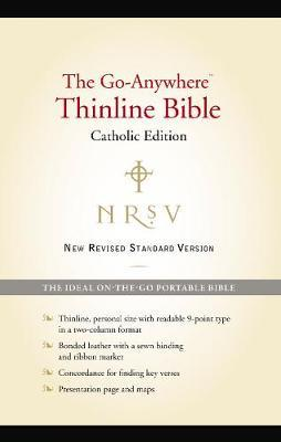 NRSV, The Go-Anywhere Thinline Bible, Catholic Edition, Bonded Leather, Black