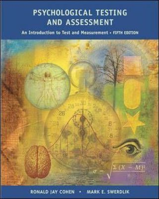 Psychological Testing and Assessment : Cohen : 9780071113816