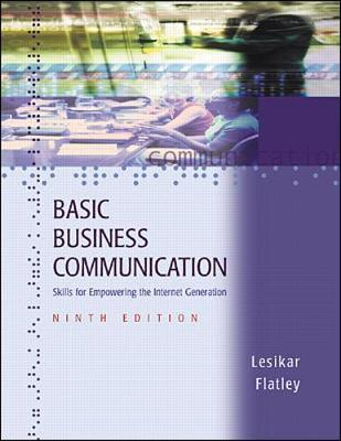 Basic Business Communication: Skills for Empowering the Internet Generation with Student CD-ROM