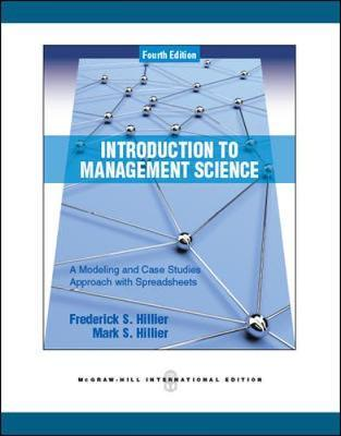 Introduction To Management Science A Modeling And Case