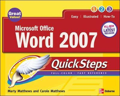 Microsoft Office Word 2007 QuickSteps