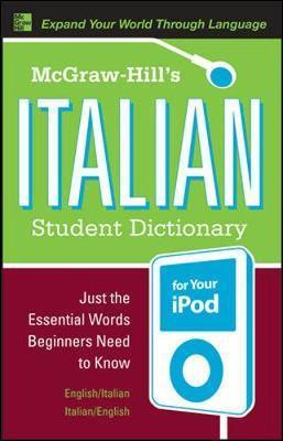 McGraw-Hill's Italian Student Dictionary for your iPod (MP3 CD-ROM +