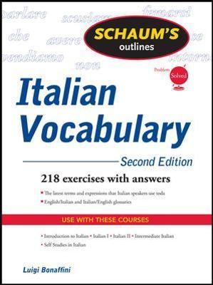 Schaum's Outline of Italian Vocabulary, Second Edition
