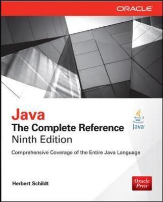 Java The Complete Reference Ninth Edition Herbert Schildt