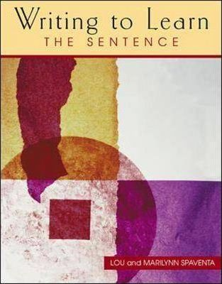 The Writing to Learn 1 Student Book  The Sentence