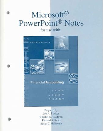 Microsoft PowerPoint Notes T A Financial Accounting