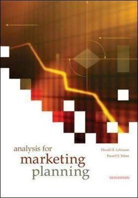 lehmann and winer%2C product management%2C mcgraw hill%2Firwin  Analysis for Marketing Planning : Donald R. Lehmann : 9780072865967