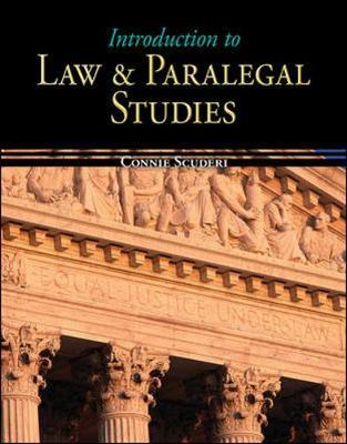 Introduction To The Law And Paralegal Studies