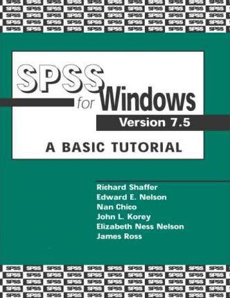 Spss for Windows--Version 7.5