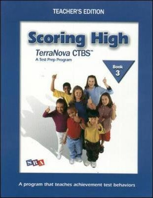 Scoring High on the TerraNova CTBS - Teacher's Edition with Poster - Grade 3