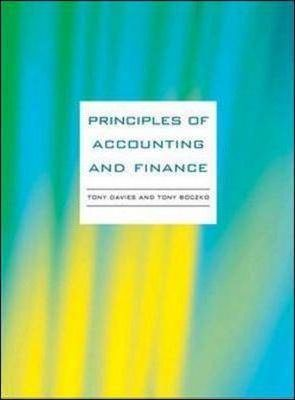 Principles of Accounting and Finance