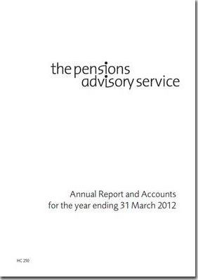 The Pensions Advisory Service annual report and accounts for the year ending 31 March 2012