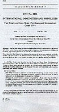 The Treaty on Open Skies (Privileges and Immunities) Order 1993