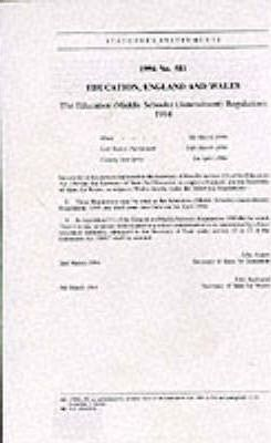 The Education (Middle Schools) (Amendment) Regulations 1994