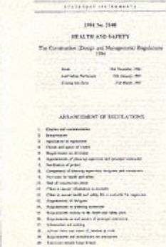 The Construction (Design and Management) Regulations 1994