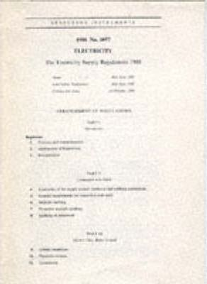 The Electricity Supply Regulations 1988