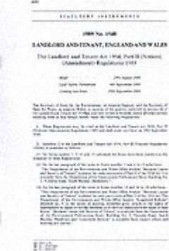 The Landlord and Tenant Act 1954, Part II (Notices) (Amendment) Regulations 1989