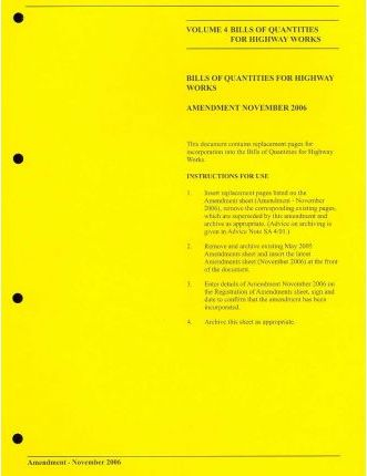 Manual of Contract Documents for Highway Works