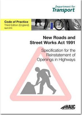 Specification for the Reinstatement of Openings in Highways April 2010