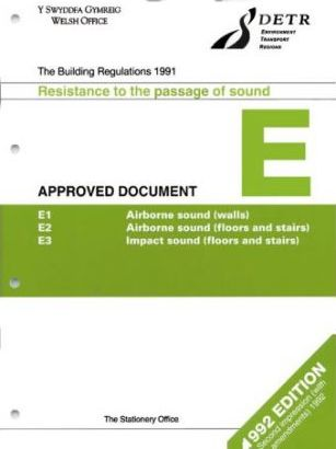 Building Regulations, 1991: Approved Document E