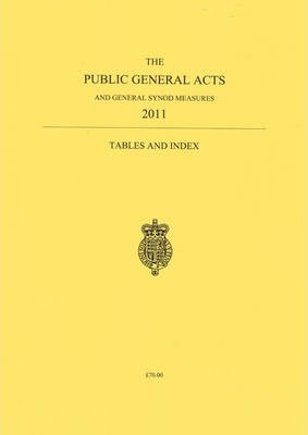 The public general acts and General Synod measures 2011