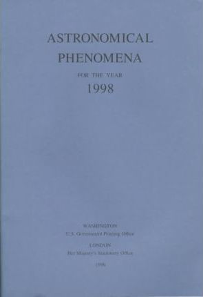 Astronomical Phenomena for the Year 1998