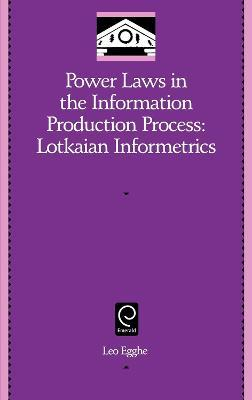Power Laws in the Information Production Process