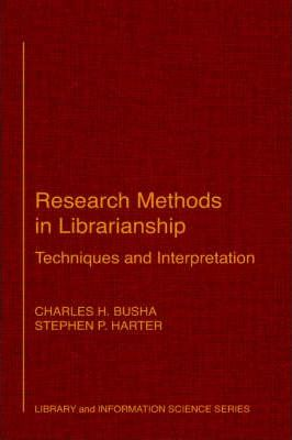Research Methods in Librarianship