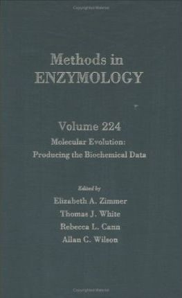 Molecular Evolution: Producing the Biochemical Data: Volume 224