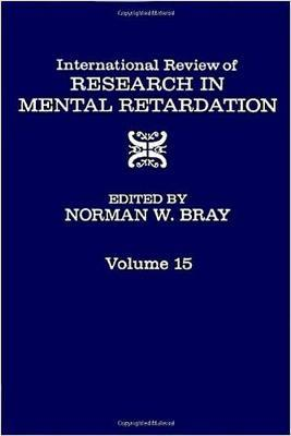 International Review of Research in Mental Retardation: v. 15
