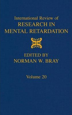 International Review of Research in Mental Retardation: Volume 20