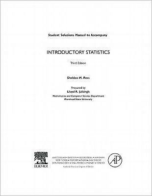 Introductory Statistics, Student Solutions Manual (E-Only)