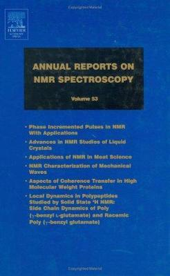 Annual Reports on NMR Spectroscopy: Volume 53