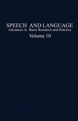 Speech and Language: v. 10
