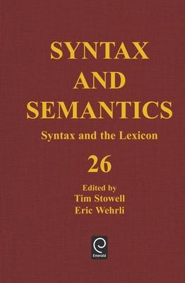 Syntax and the Lexicon