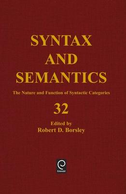 The Nature and Function of Syntactic Categories