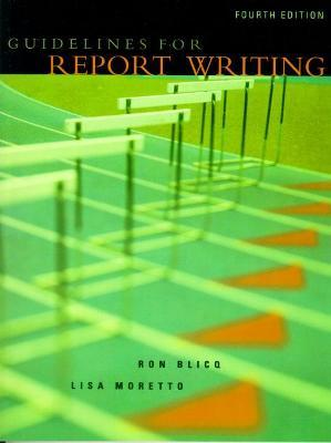 Guidelines for Report Writing