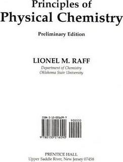 Principles of Physical Chemistry - Class Test Edition
