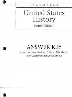 Pacemaker United States History Answer Key