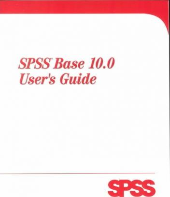 SPSS Base 10.0 Windows Users Guide Package
