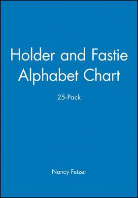 Holder and Fastie Alphabet Chart 25-Pack